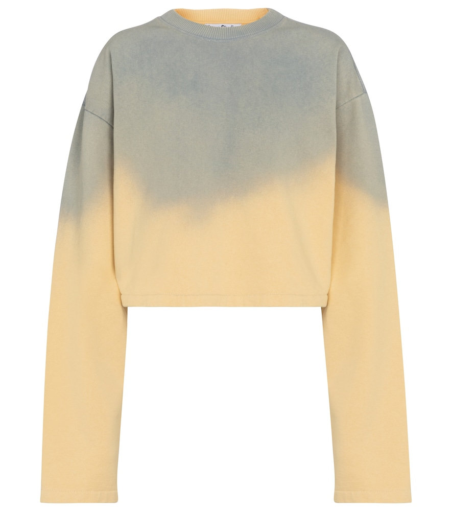 Acne Studios TIE-DYE CROPPED COTTON SWEATSHIRT