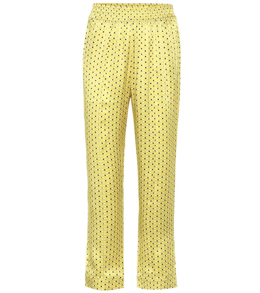 Pantalon de pyjama en soie imprimée