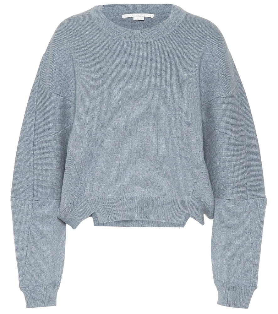 Asymmetric Wool And Alpaca-Blend Sweater, Grey
