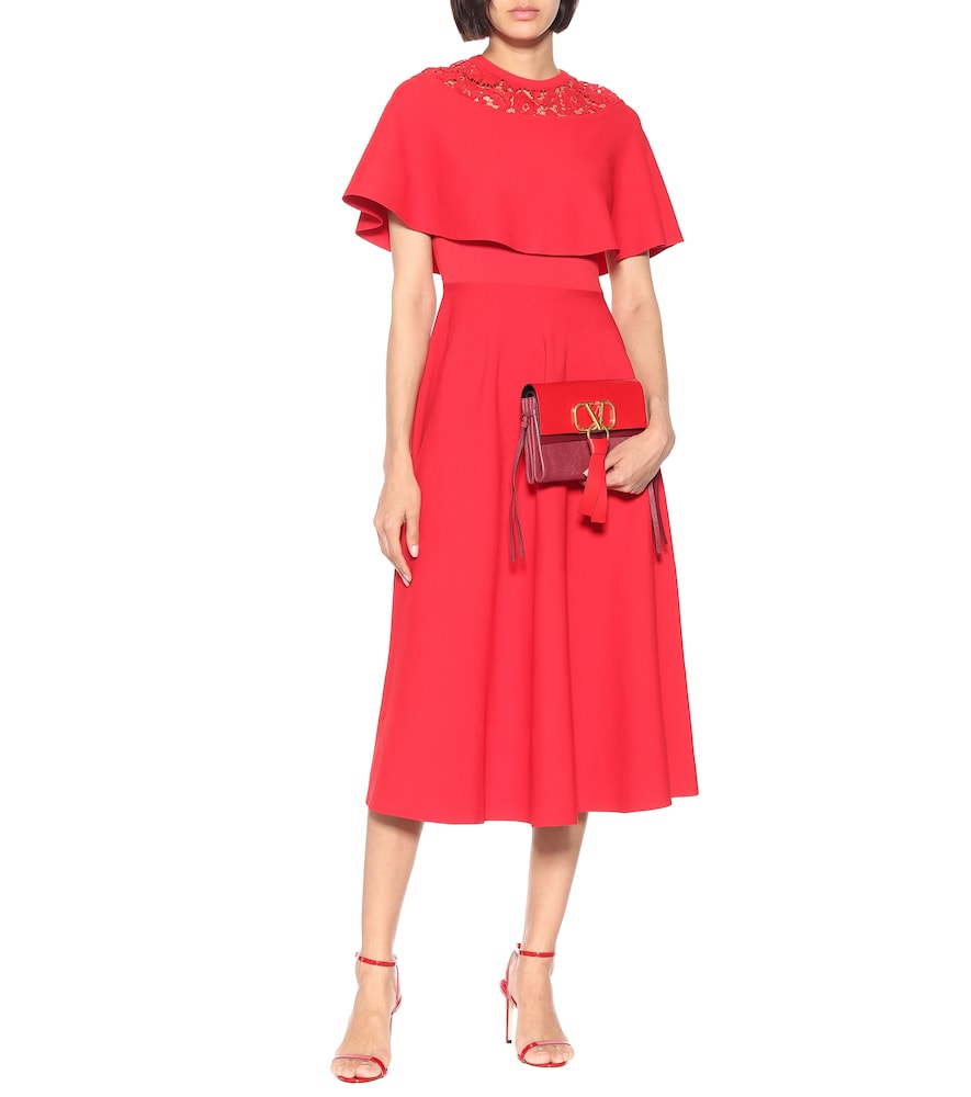 Lace-trimmed dress by Valentino
