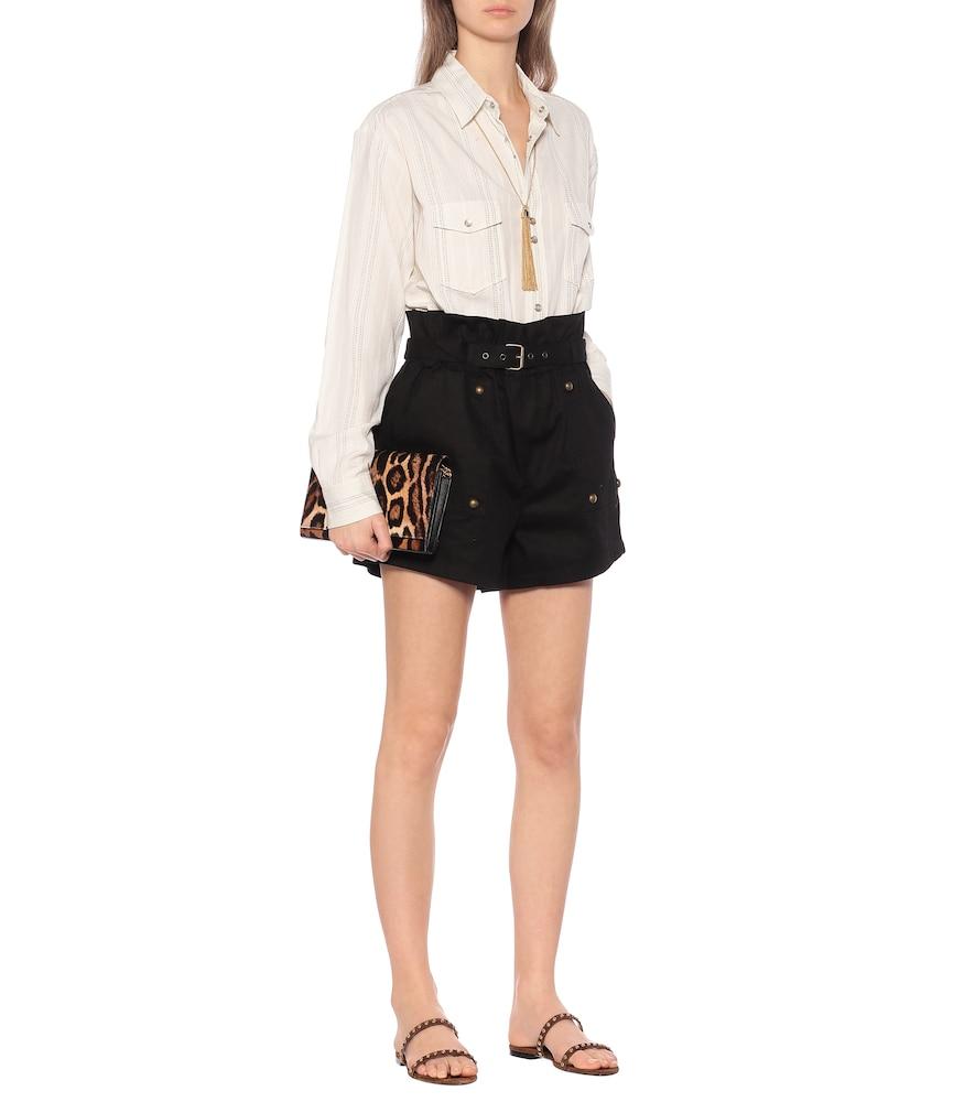 Kiki embellished suede sandals by Saint Laurent