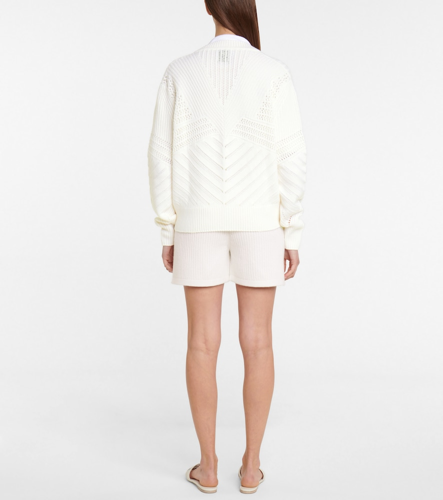 BARRIE Cottons CASHMERE AND COTTON CARDIGAN