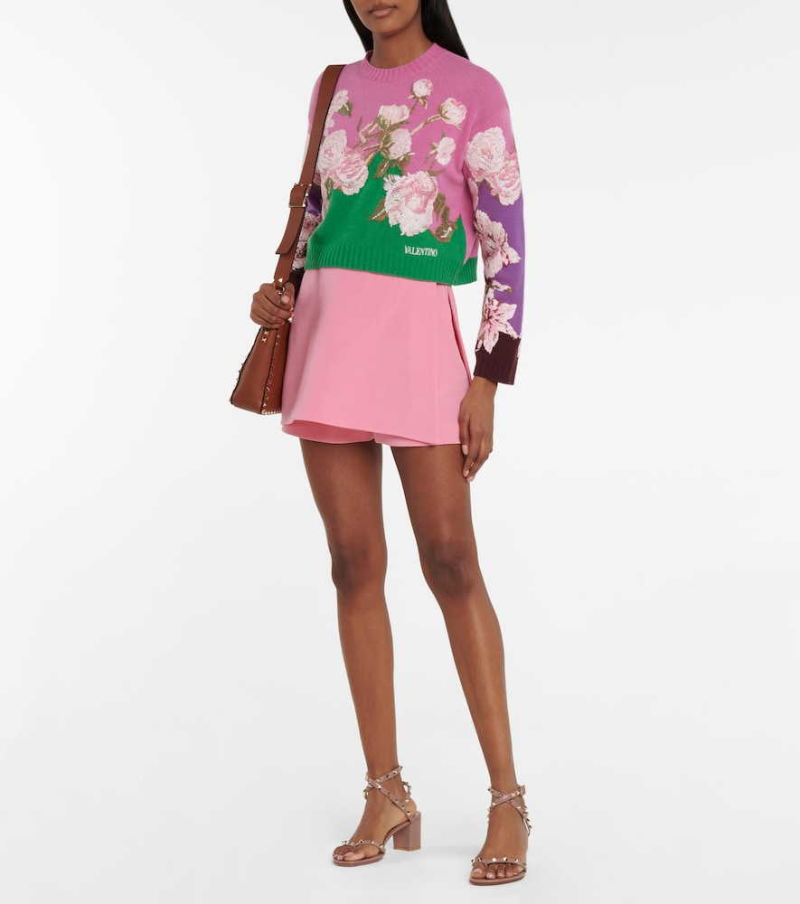 VALENTINO Wools EMBROIDERED WOOL AND CASHMERE SWEATER