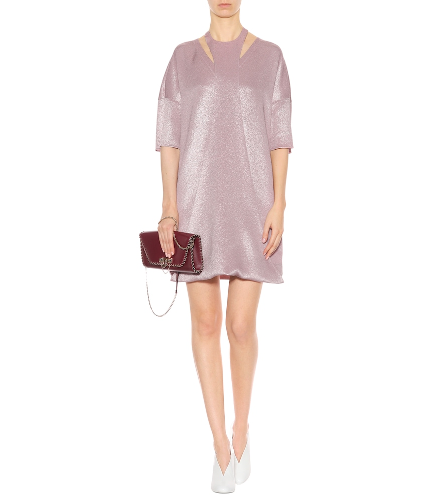 Metallic crêpe minidress by Valentino