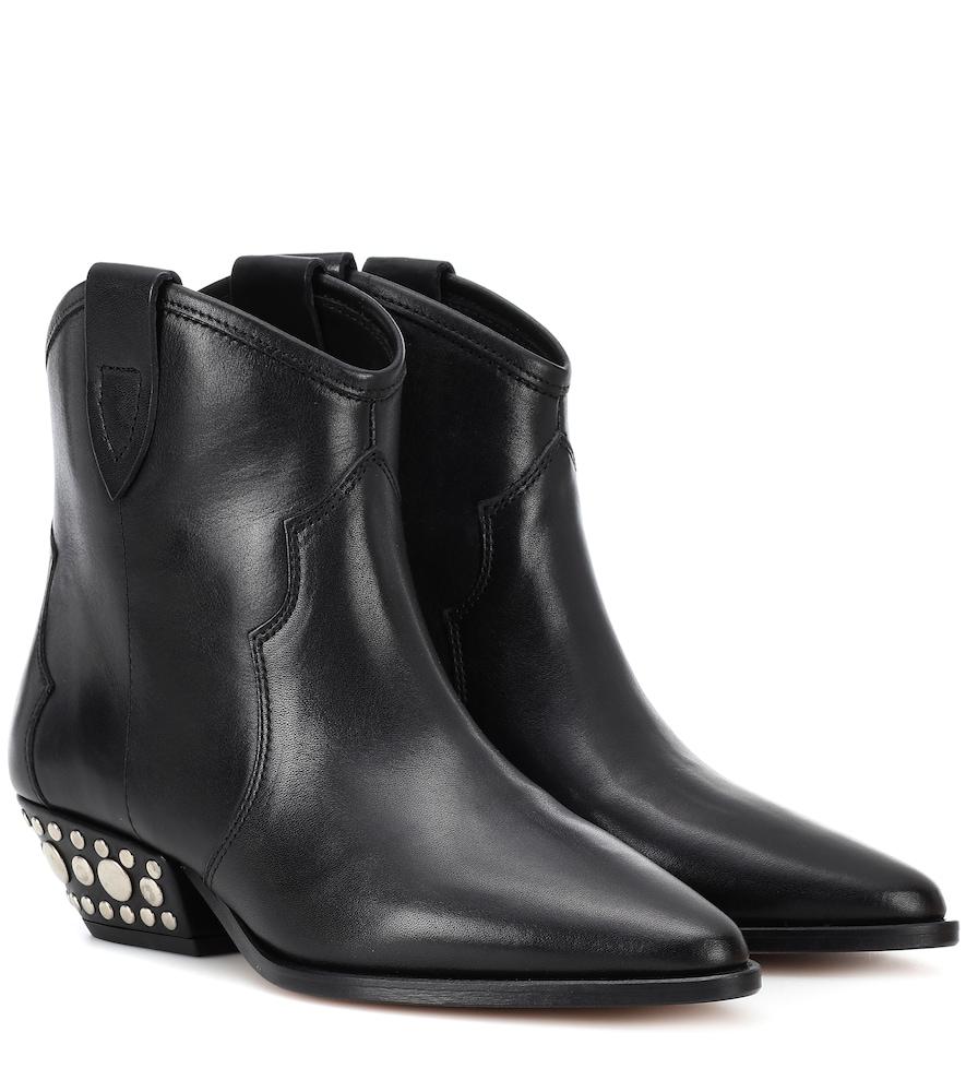 Isabel Marant Dawnya studded leather ankle boots outlet largest supplier 7o4zK5SLc