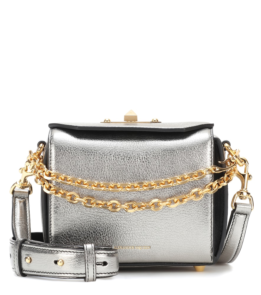 Box 16 Metallic Leather Shoulder Bag, Female