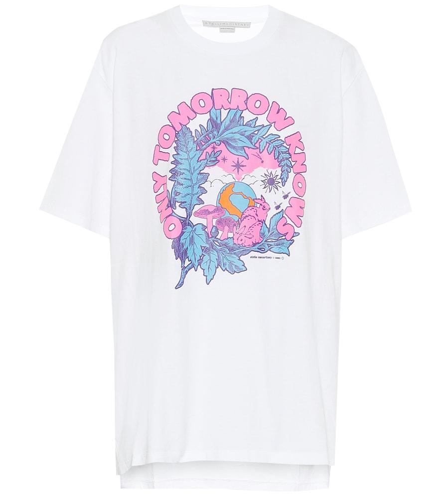 T-shirt imprimé en coton - Stella McCartney - Modalova