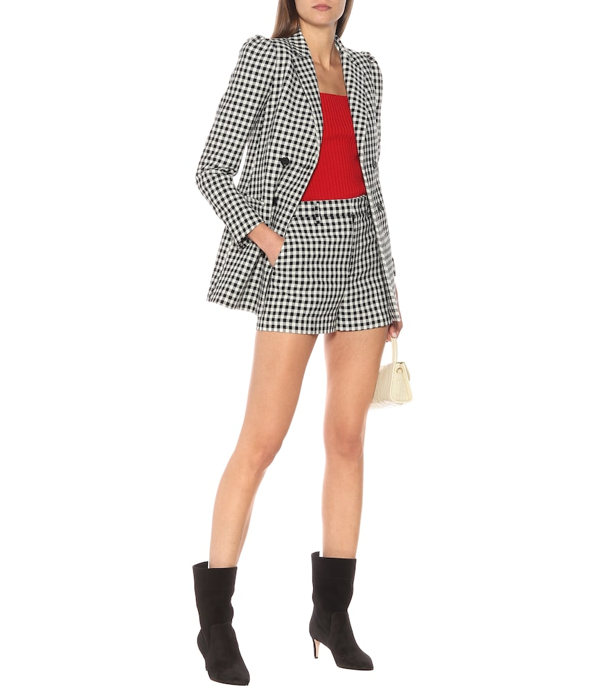 Gingham double-breasted blazer by REDValentino
