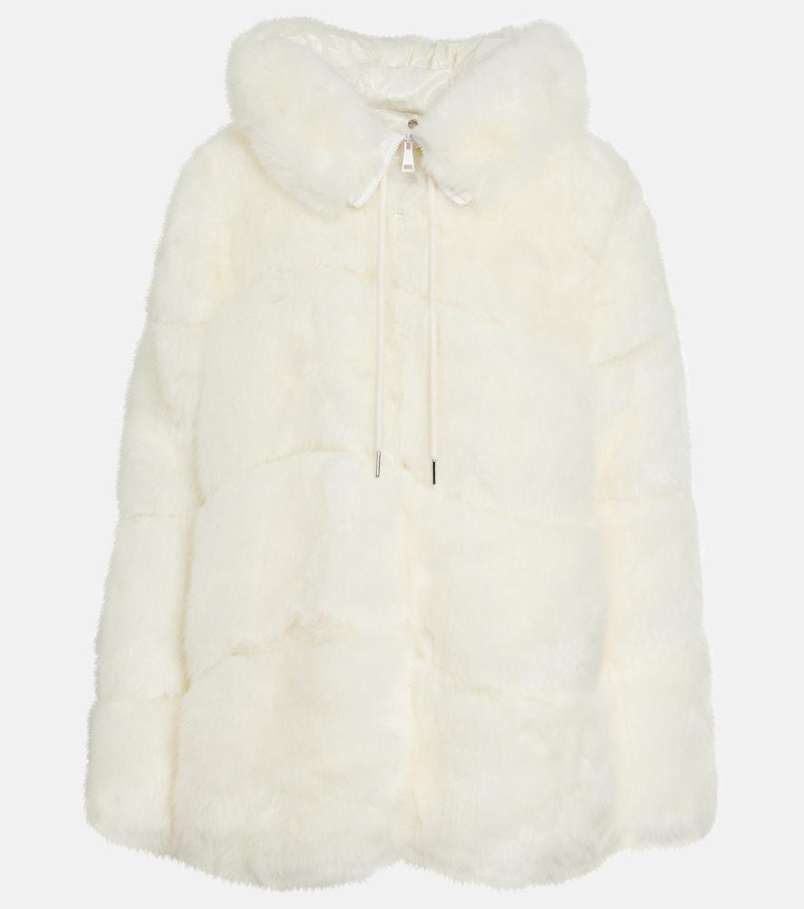 Epilobe faux fur down jacket