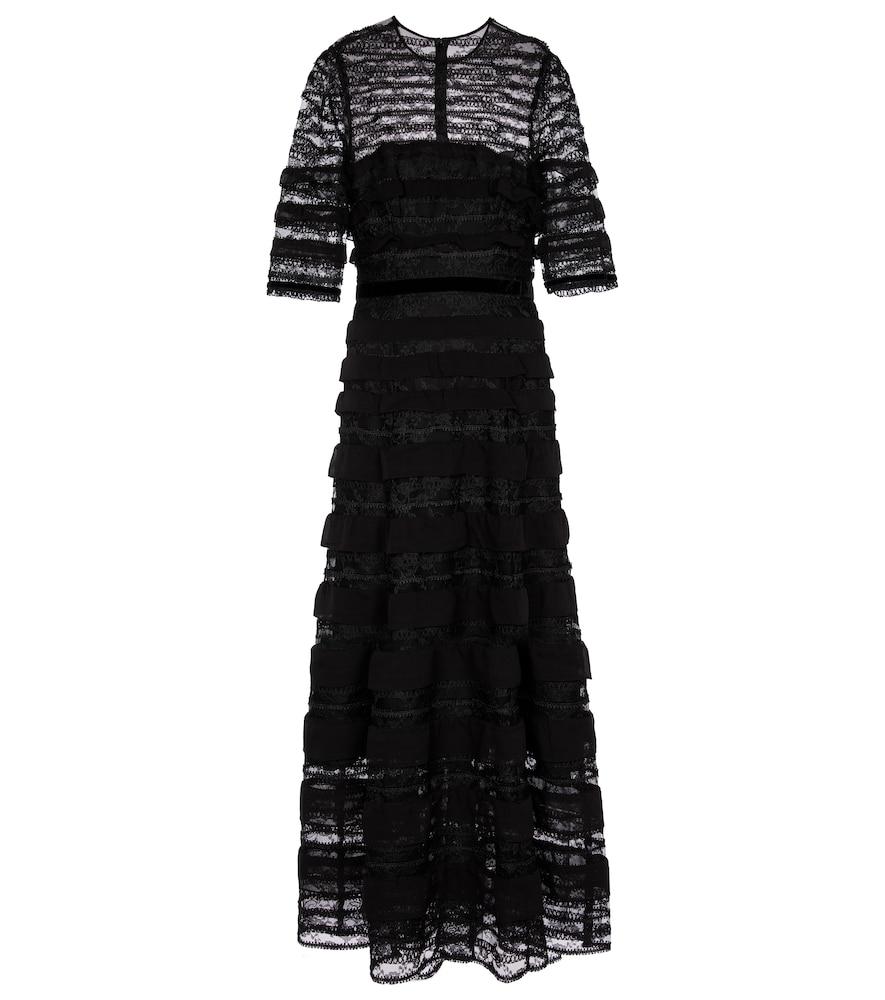 Floral lace maxi dress