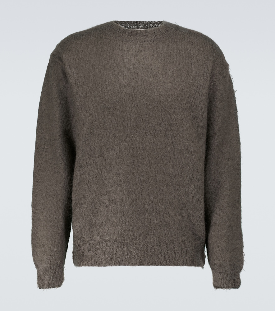 Brushed wool and mohair sweater