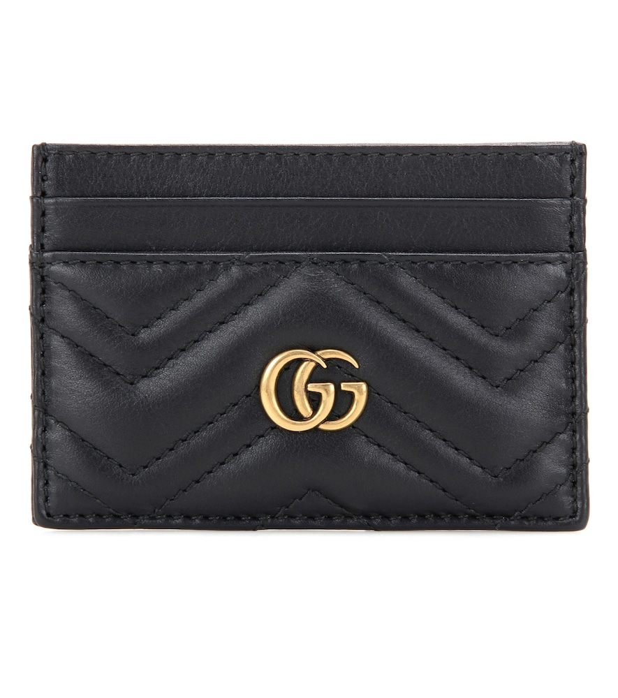 GG MARMONT QUILTED LEATHER CARDHOLDER