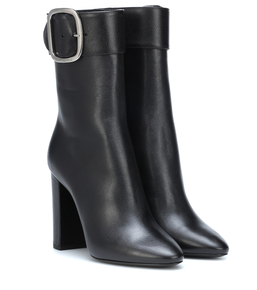 Joplin 105 Ankle Boots In Black Leather.