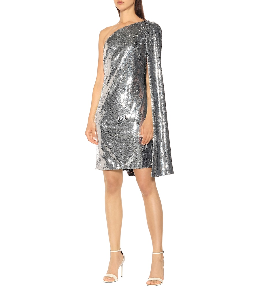 One-shoulder sequined minidress by Stella McCartney