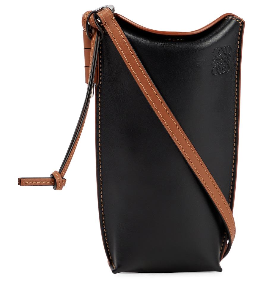 Gate Pocket leather shoulder bag