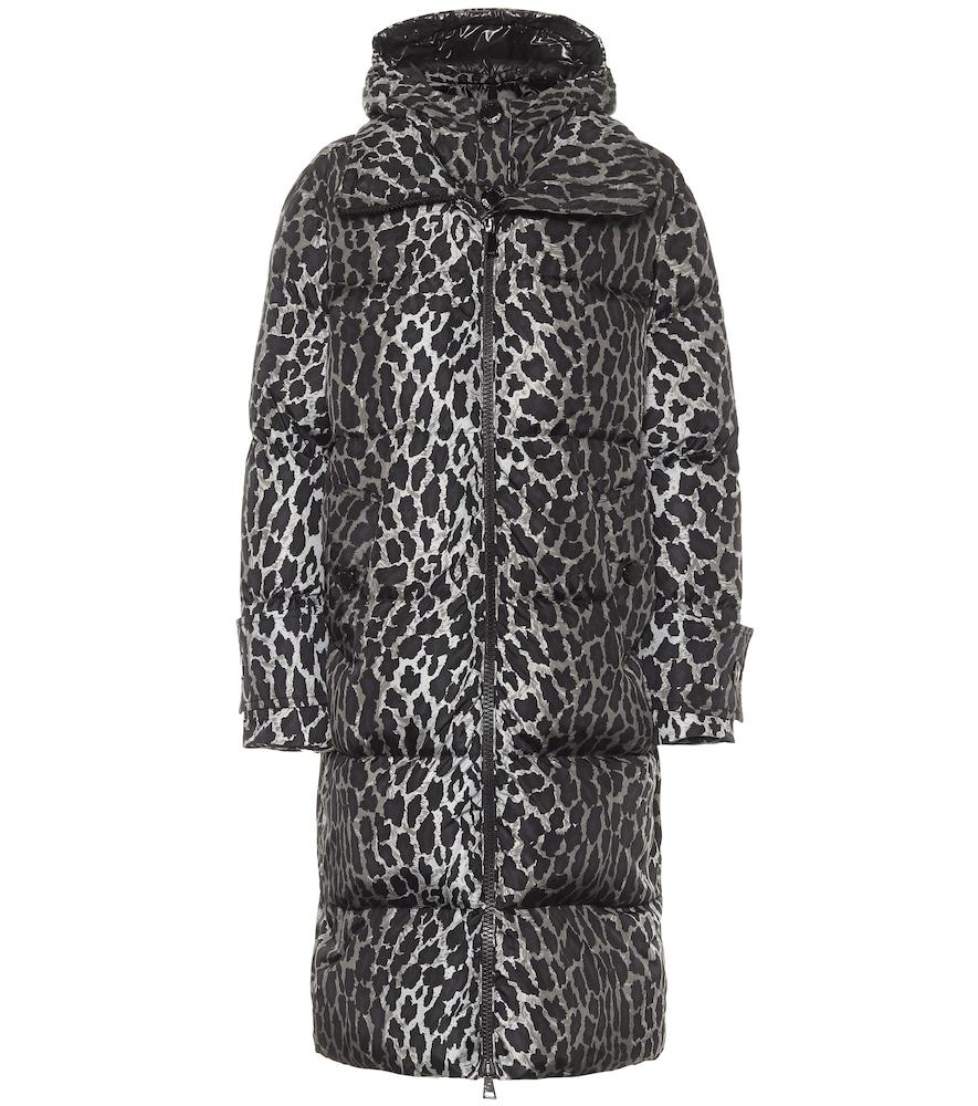 Manteau doudoune Keller à motif léopard et capuche - Moncler - Modalova