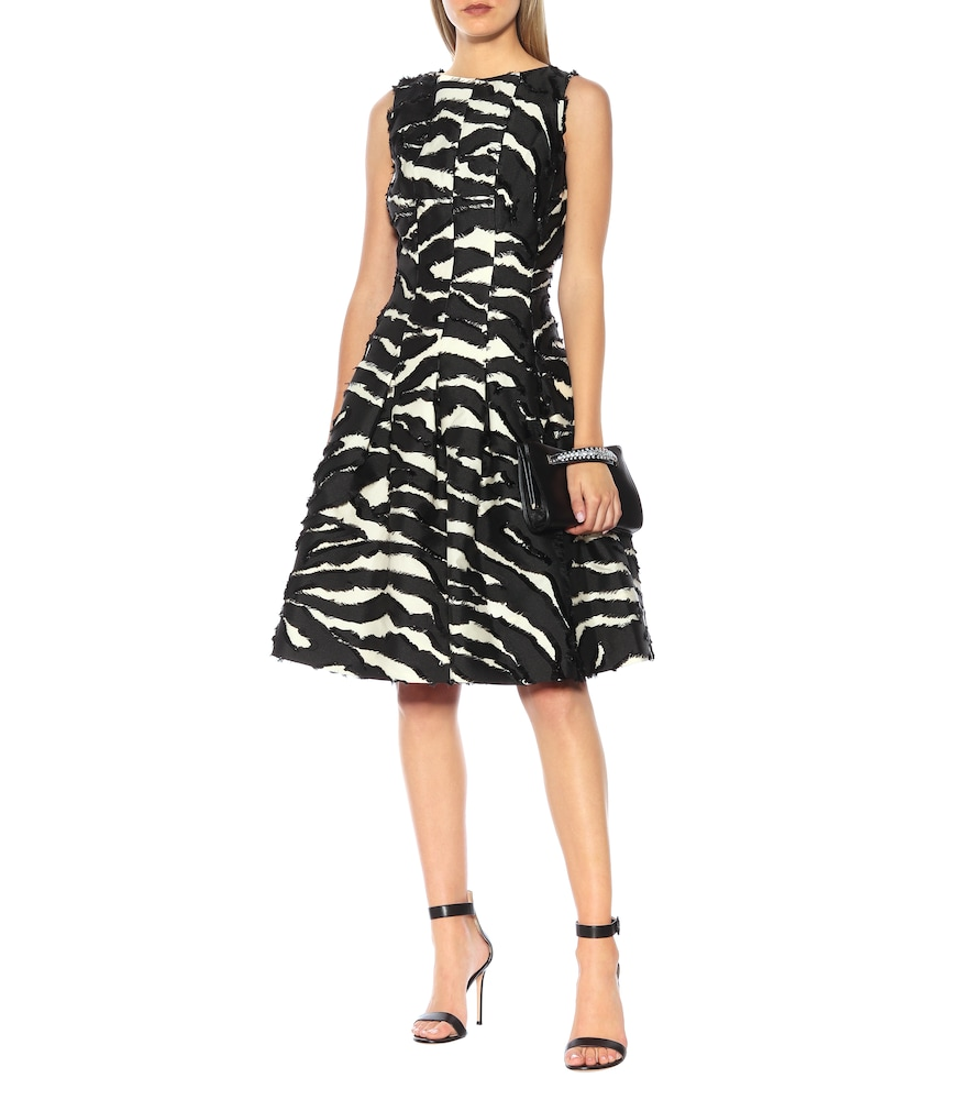 Zebra dress by Oscar de la Renta