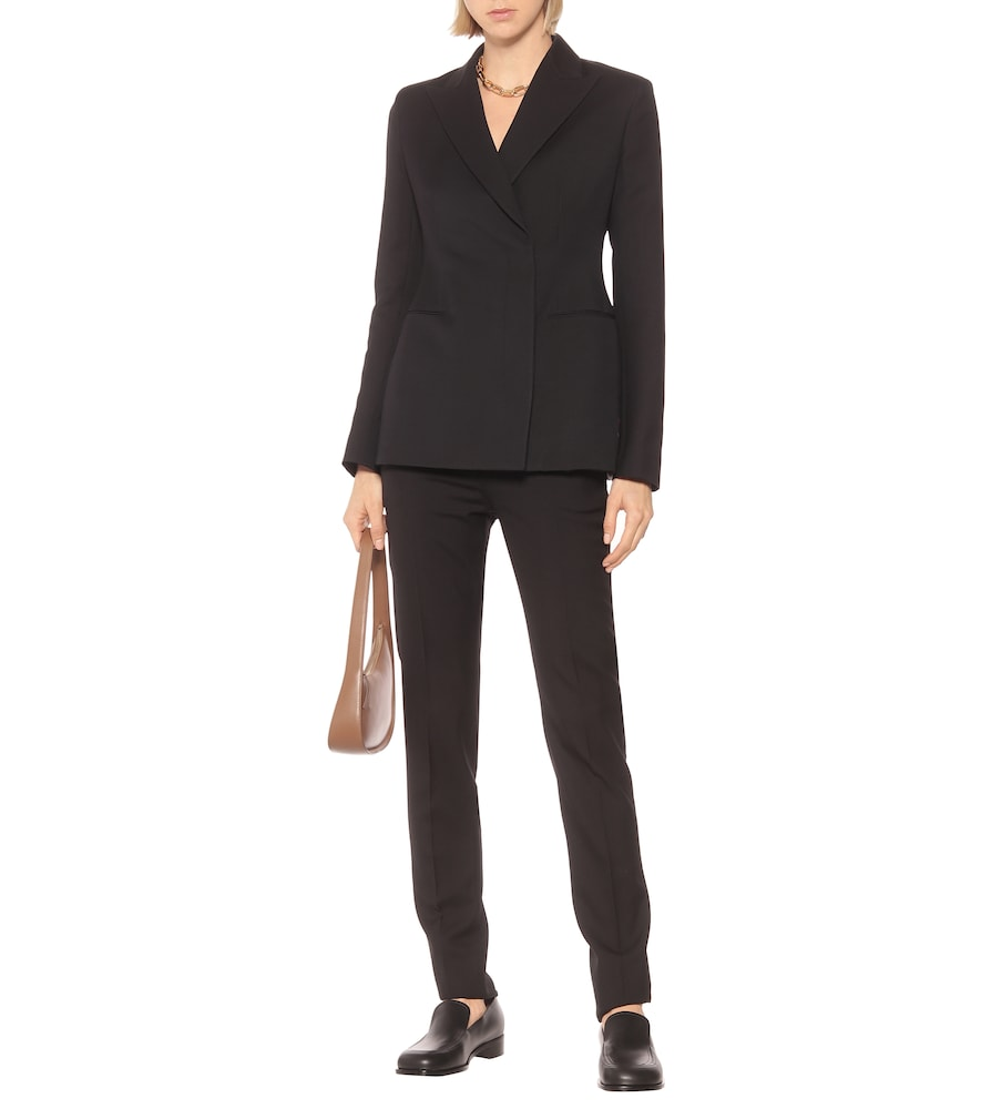 Lanois wool and silk-blend blazer by The Row