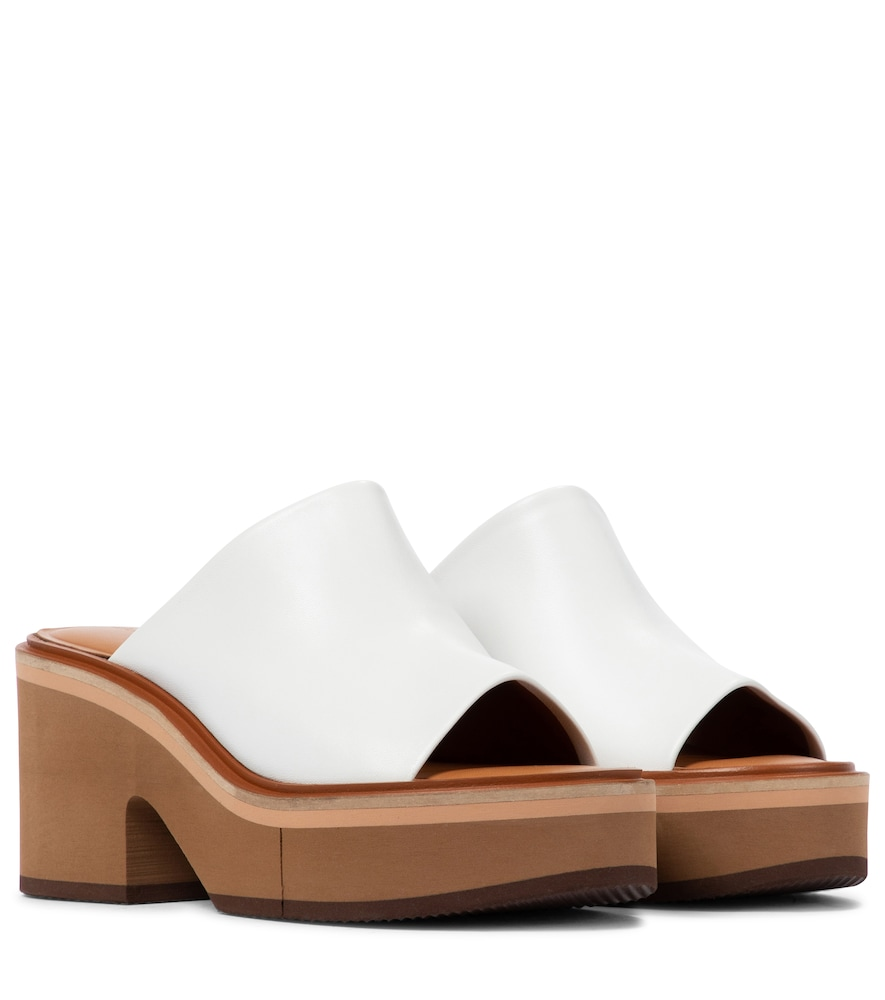 Clergerie CESSY LEATHER PLATFORM SANDALS
