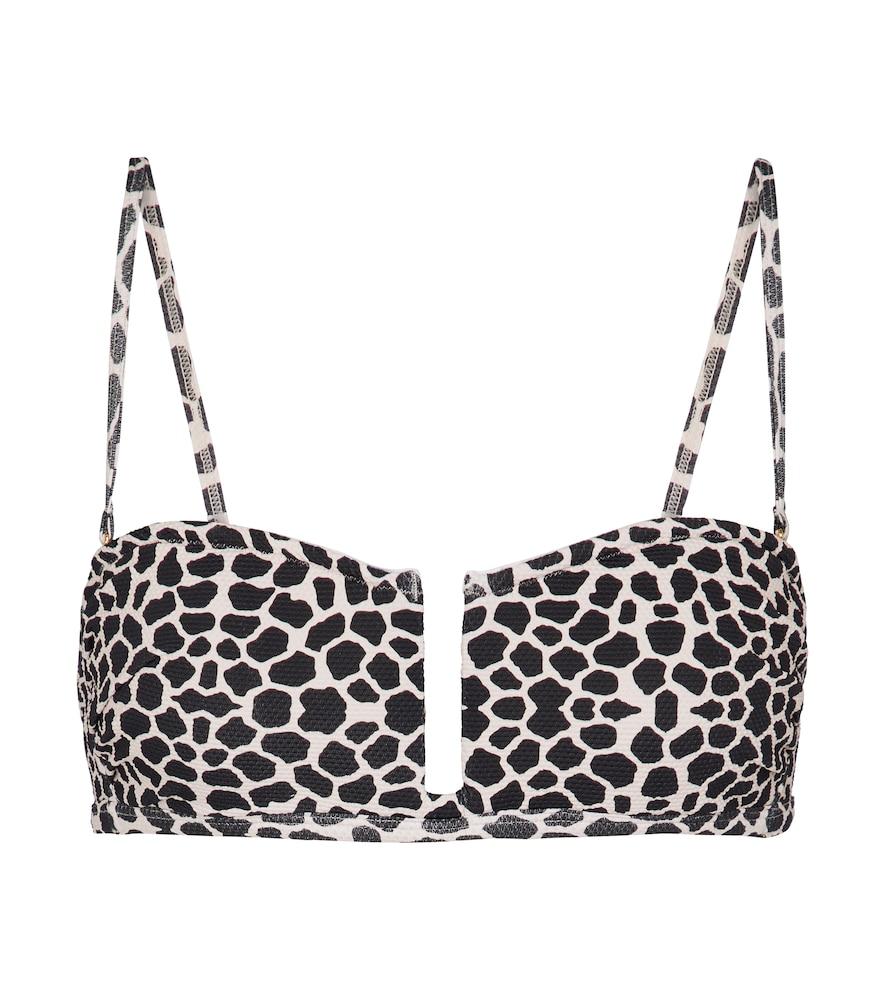 Jenna giraffe-print bikini top