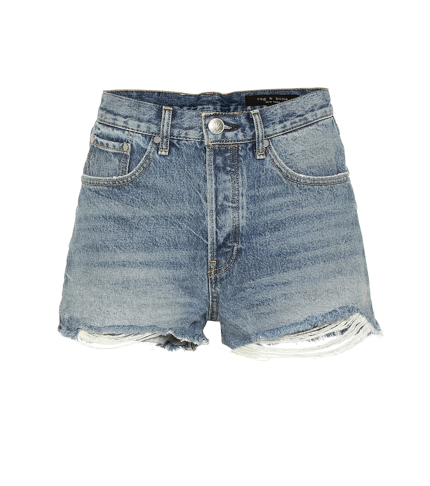 RAG & BONE | Maya High-Rise Denim Shorts | Goxip