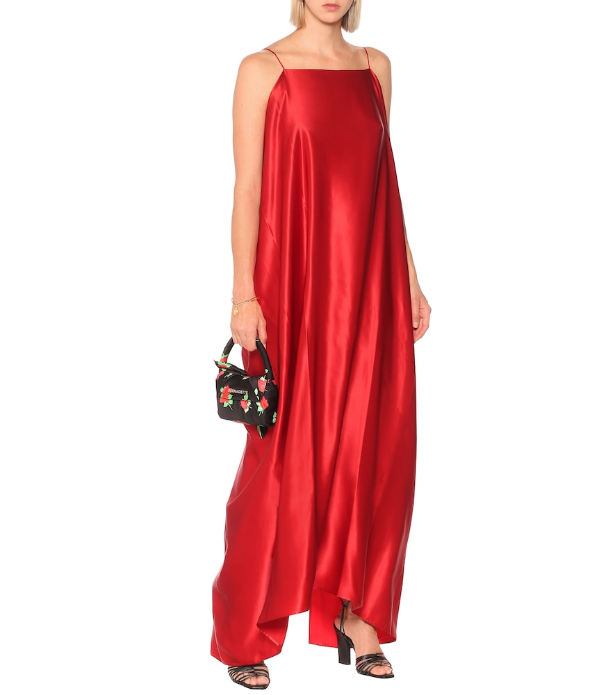 Meredith silk-satin maxi dress by Bernadette
