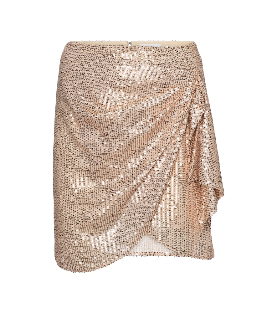 Koren sequined wrap miniskirt