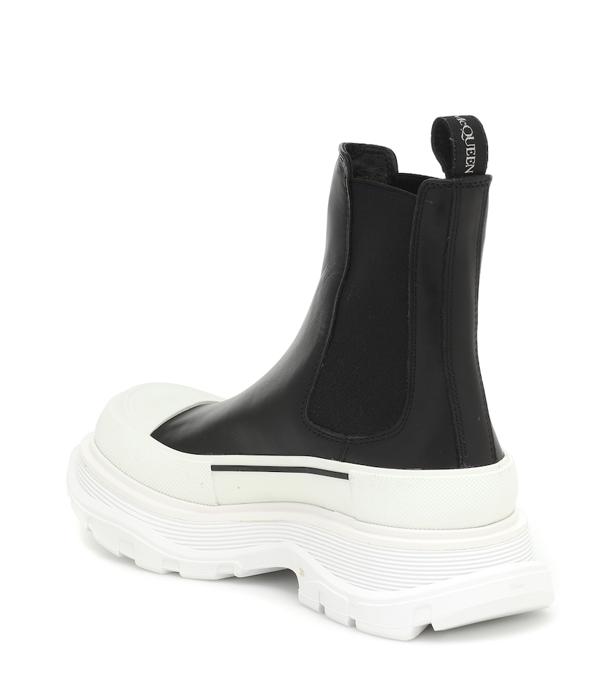 ALEXANDER MCQUEEN Leathers TREAD LEATHER ANKLE BOOTS