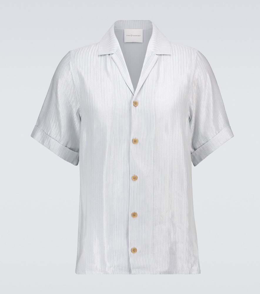 Herringbone bowling shirt