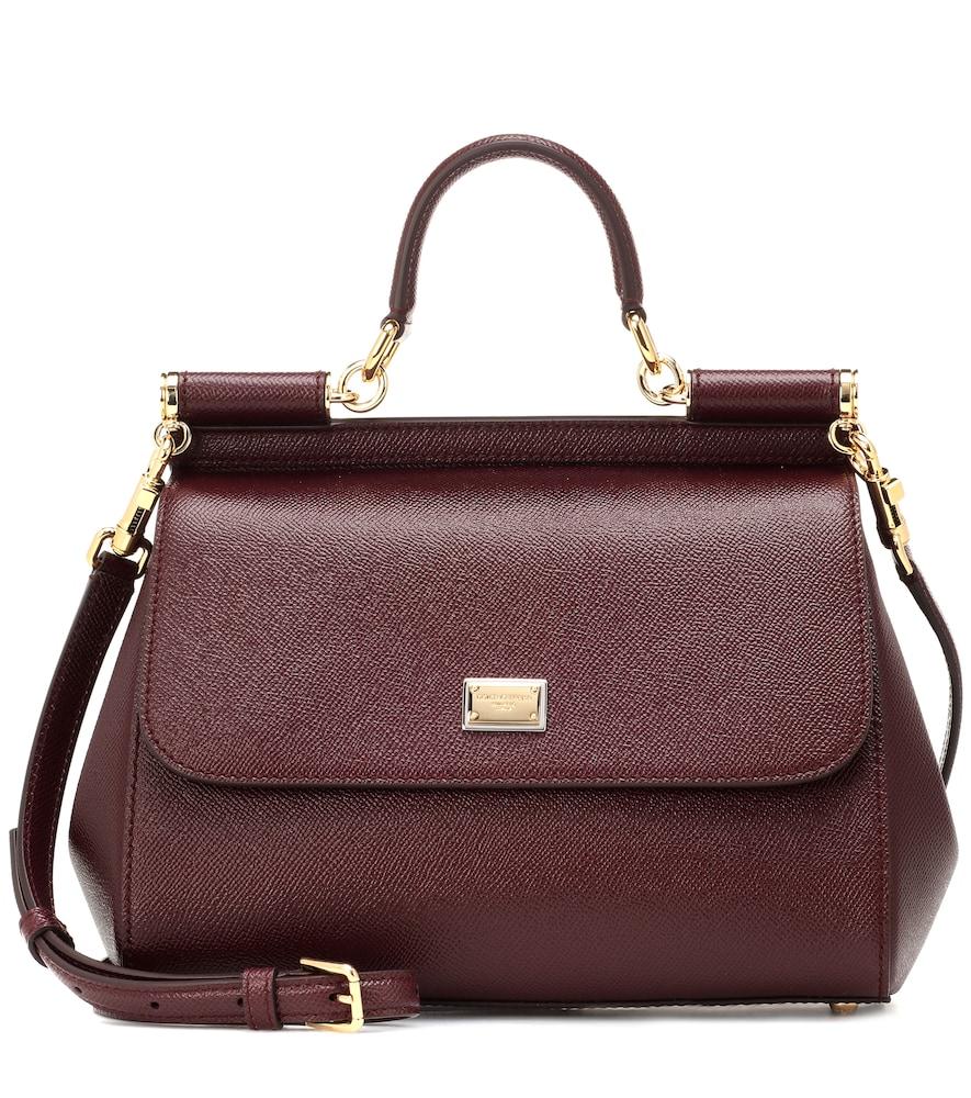 Sicily Medium Dauphine-Leather Bag, Female