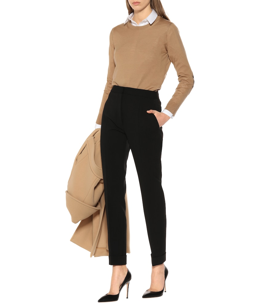 Stella Mccartney High-rise Skinny Stretch Wool Pants