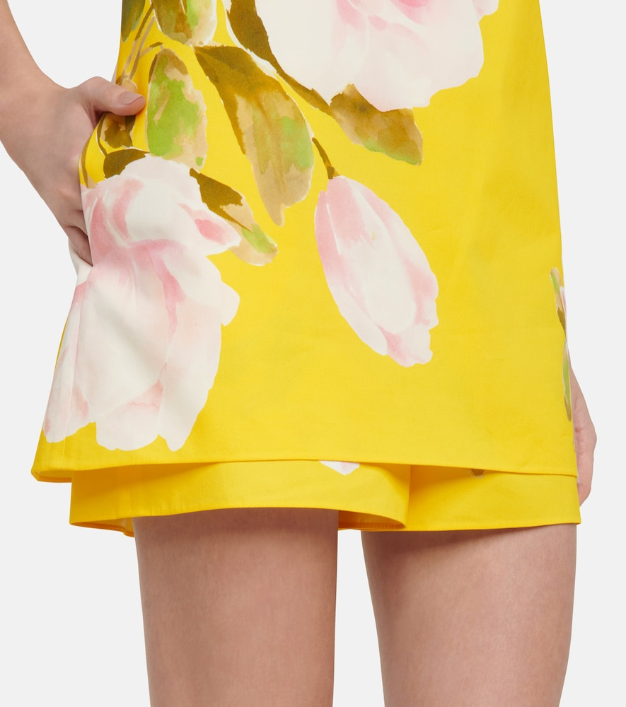 VALENTINO Cottons FLORAL COTTON AND SILK PLAYSUIT