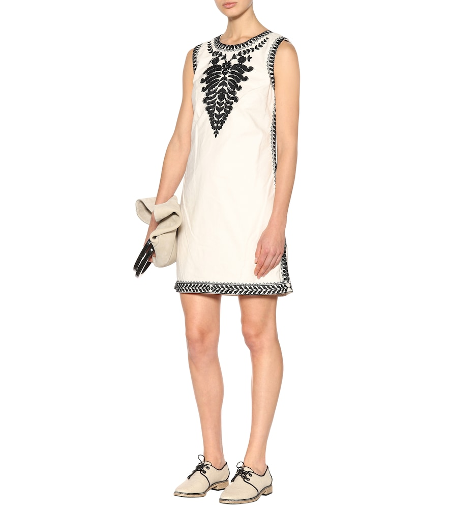 Embroidered cotton dress by Tory Burch