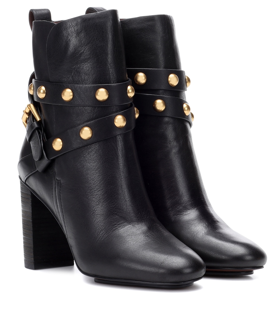 JANIS LEATHER ANKLE BOOTS