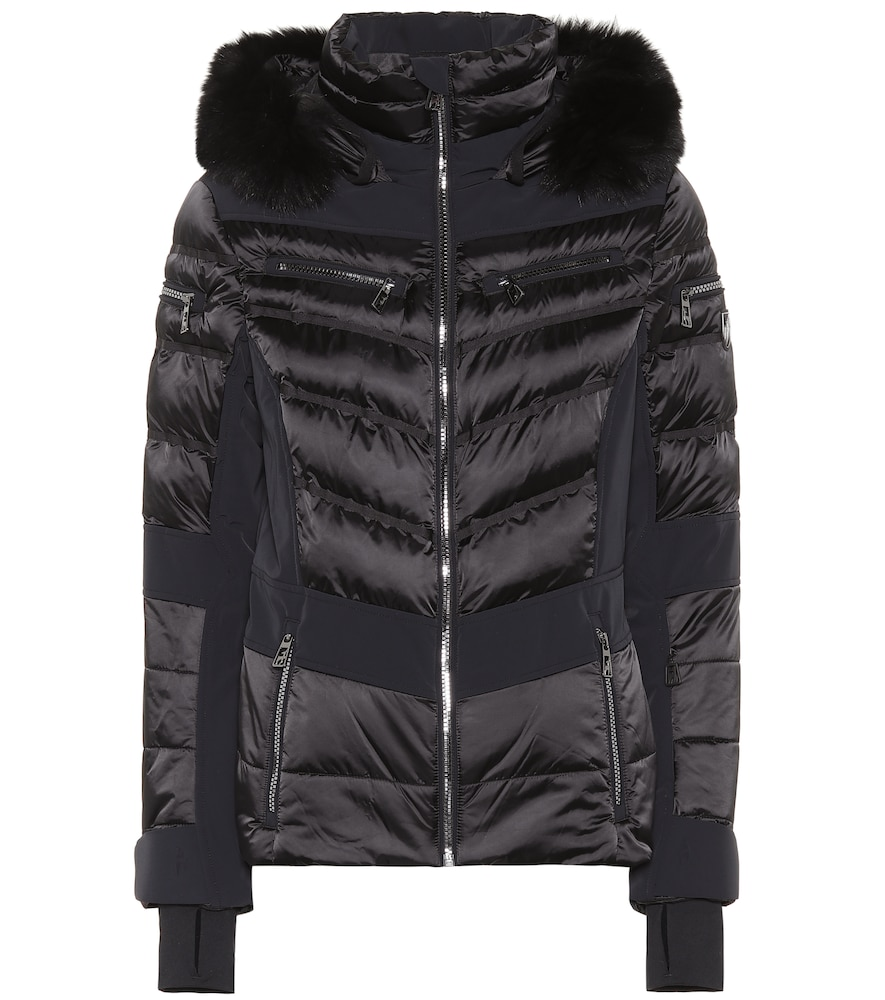 TONI SAILER Maria Fur-Trimmed Ski Jacket in Black