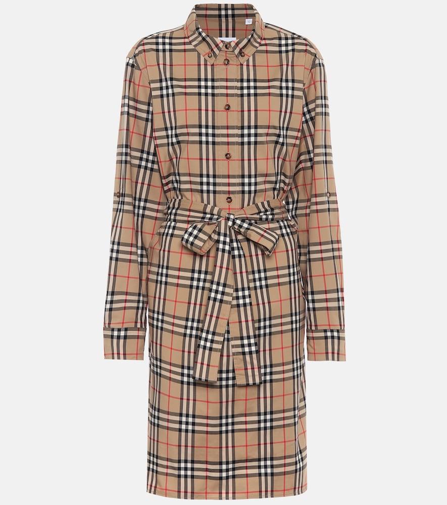 Robe chemise Vintage Check en coton mélangé - Burberry - Modalova