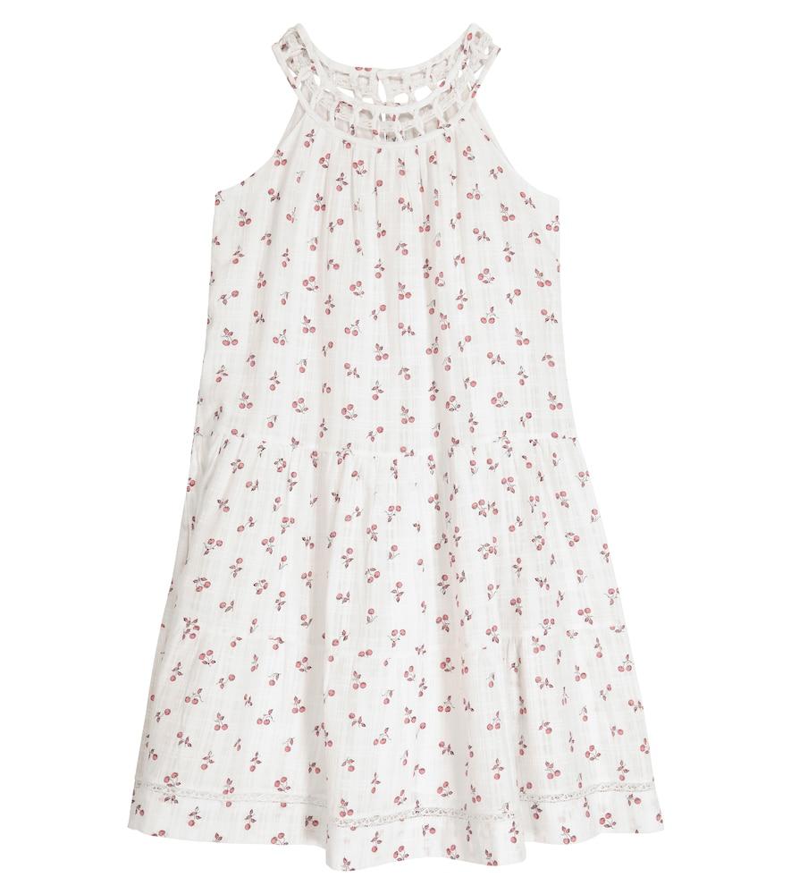 Bonpoint SADE CHERRY-PRINT COTTON DRESS