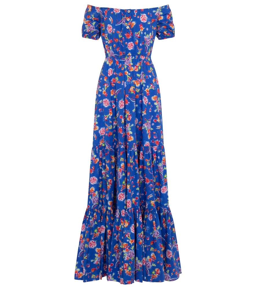 Bardot floral cotton-blend maxi dress