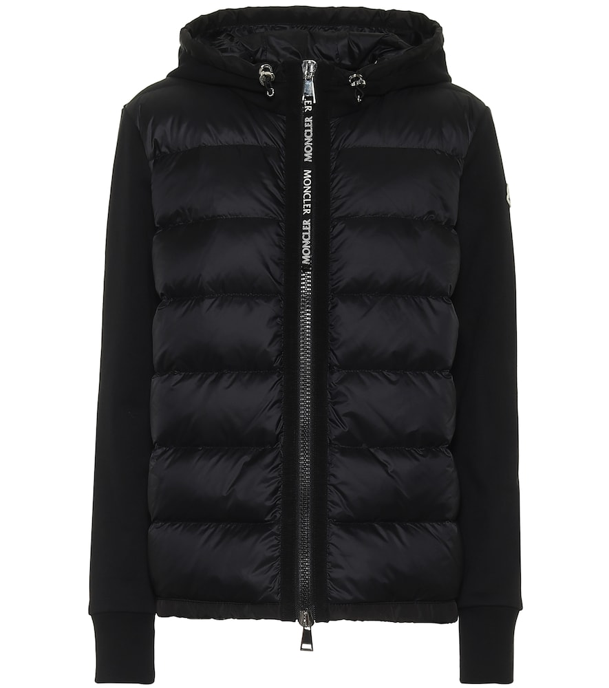 Cotton-jersey and down jacket