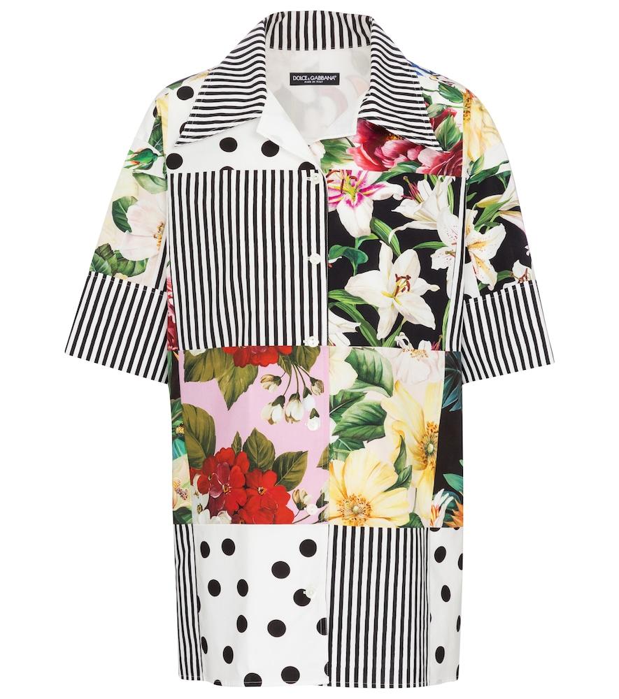 Dolce & Gabbana Cottons PATCHWORK COTTON SHIRT