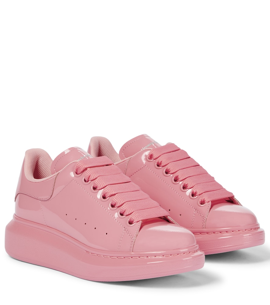 Oversized patent leather sneakers