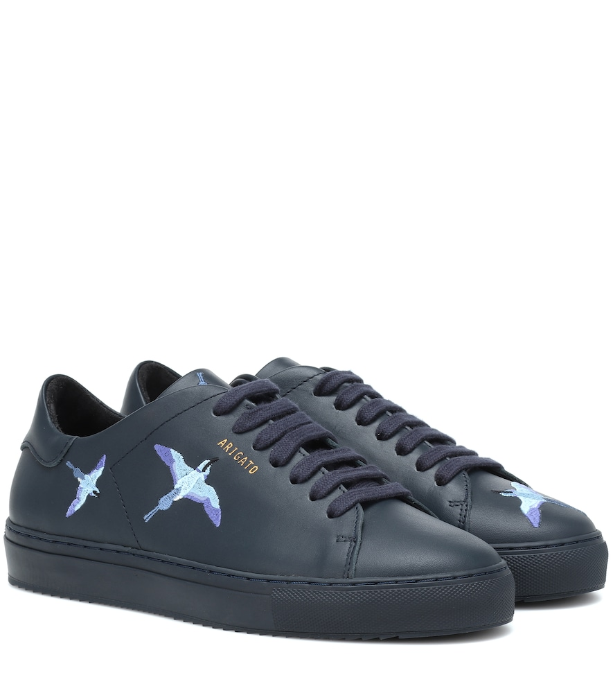 AXEL ARIGATO Clean 90 Bird Leather Sneakers in Blue