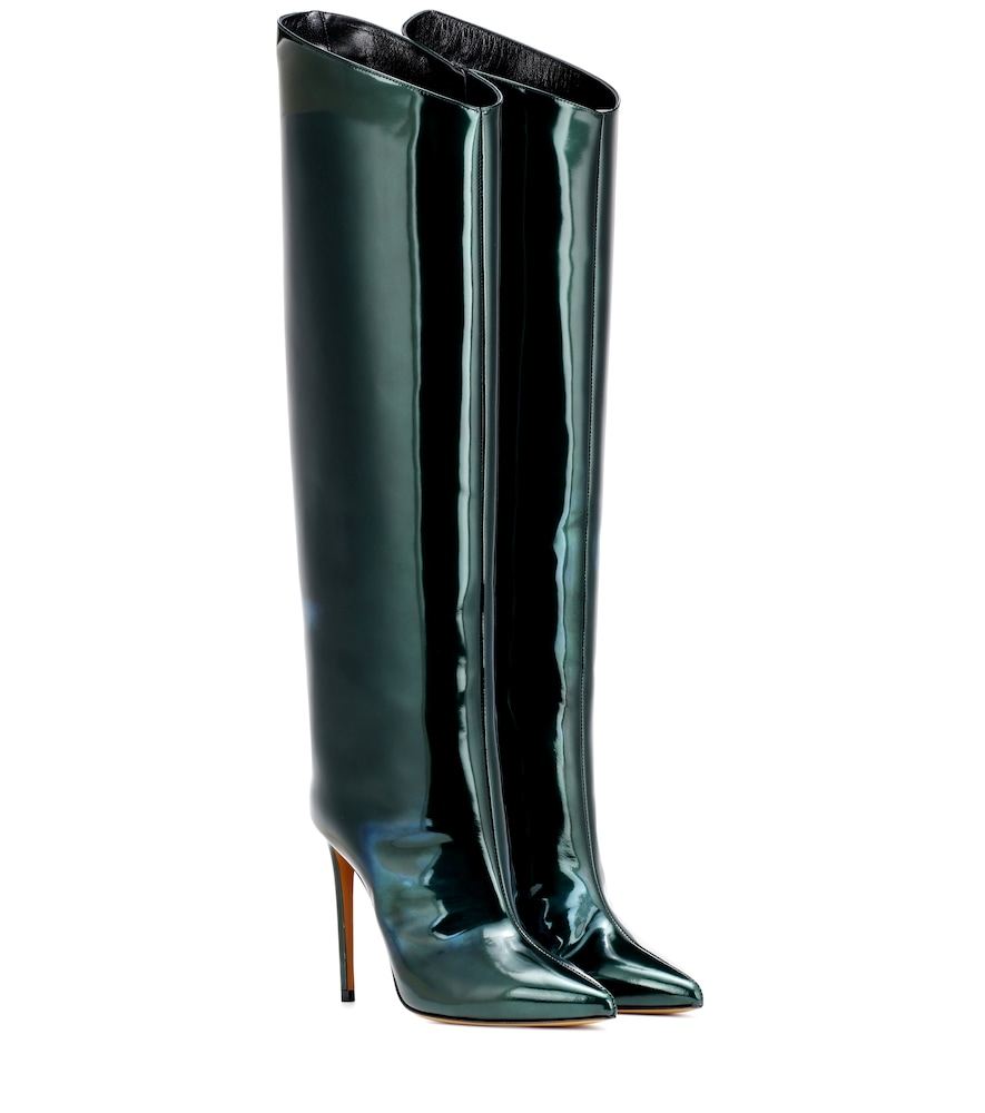 ALEX PATENT LEATHER BOOTS