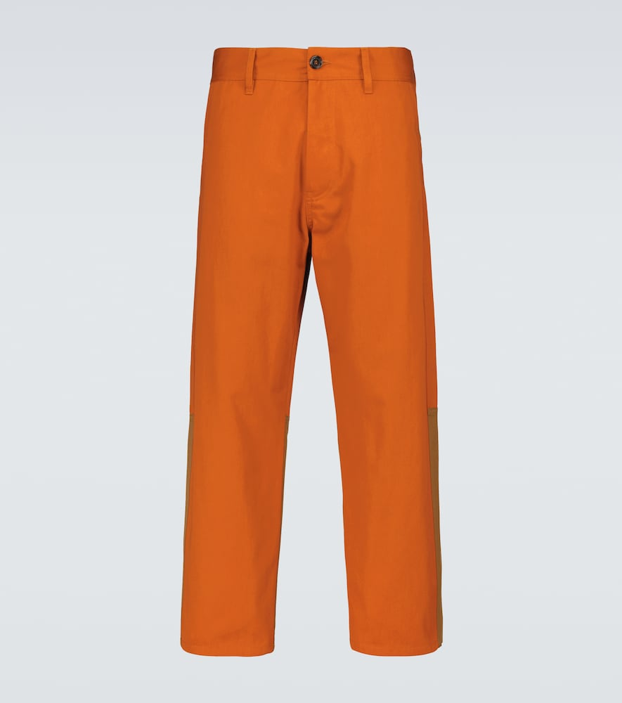 Marni Straight-fit Pants In Orange