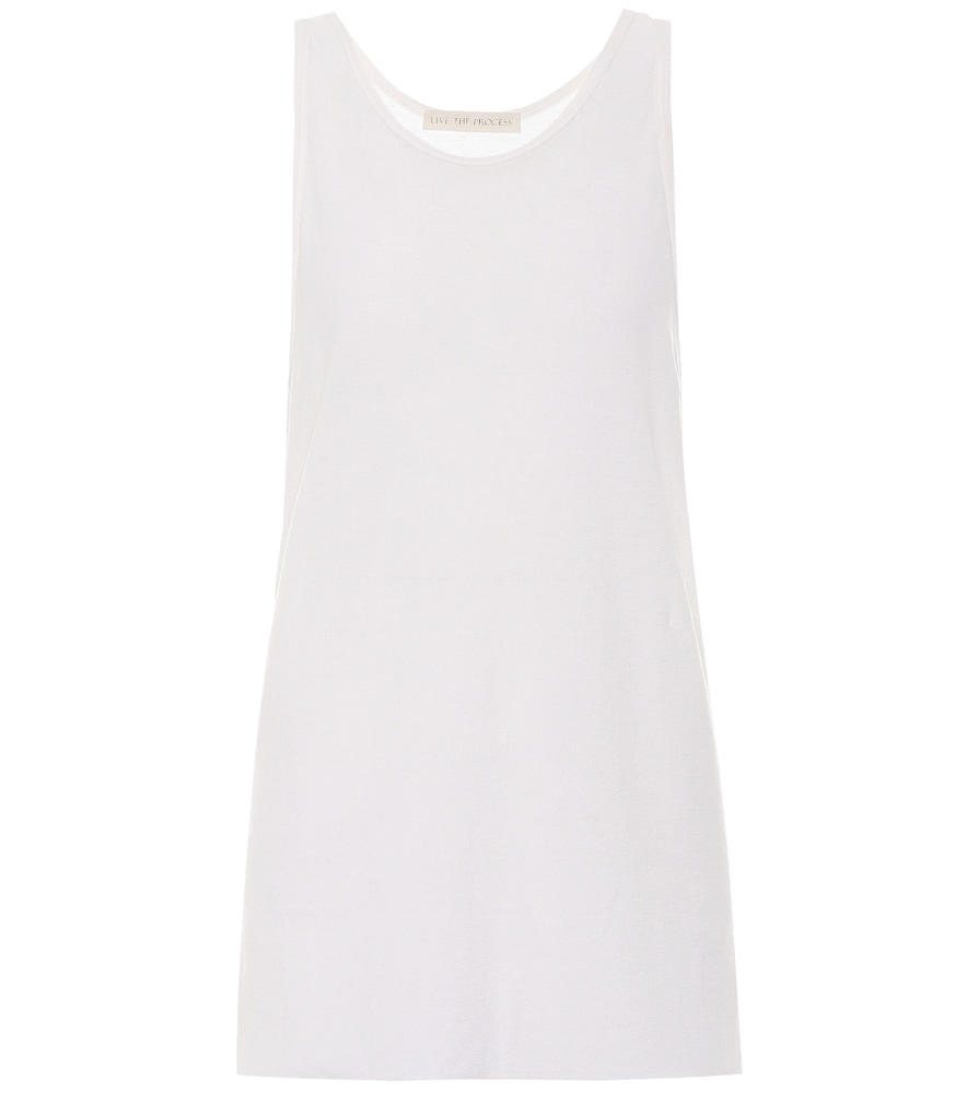 LIVE THE PROCESS COTTON AND CASHMERE TANK TOP