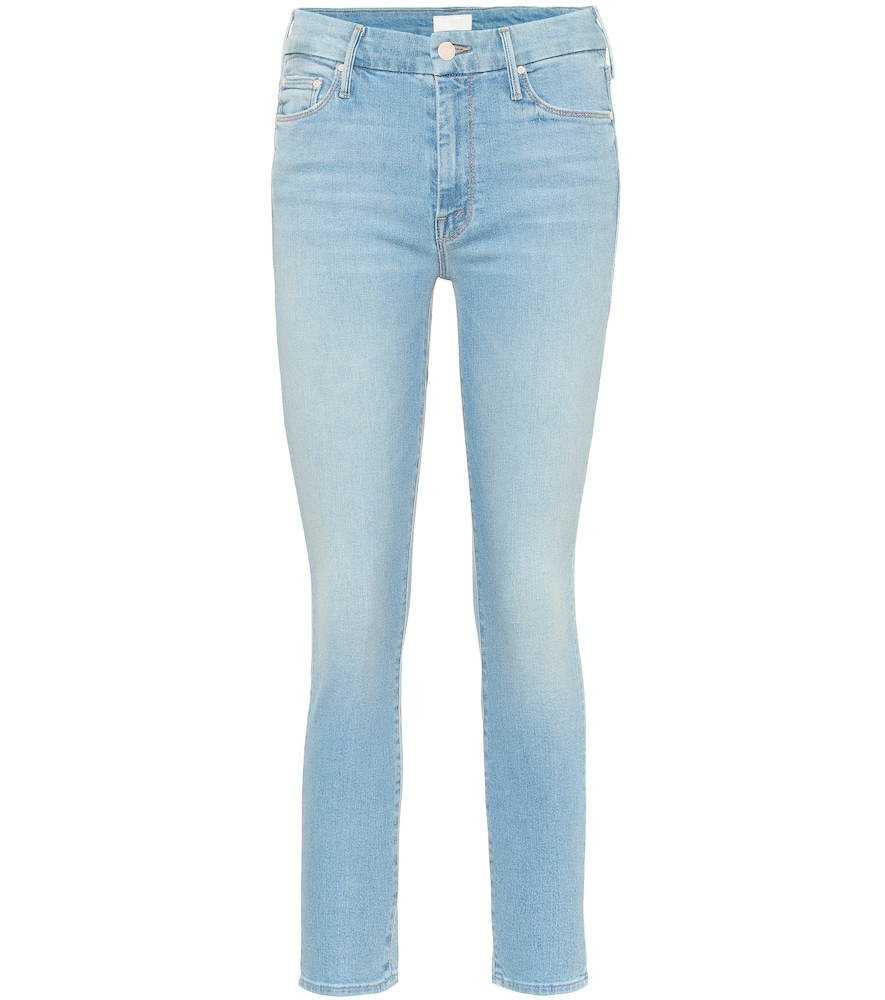 MOTHER | The Looker Cropped Skinny Jeans | Goxip