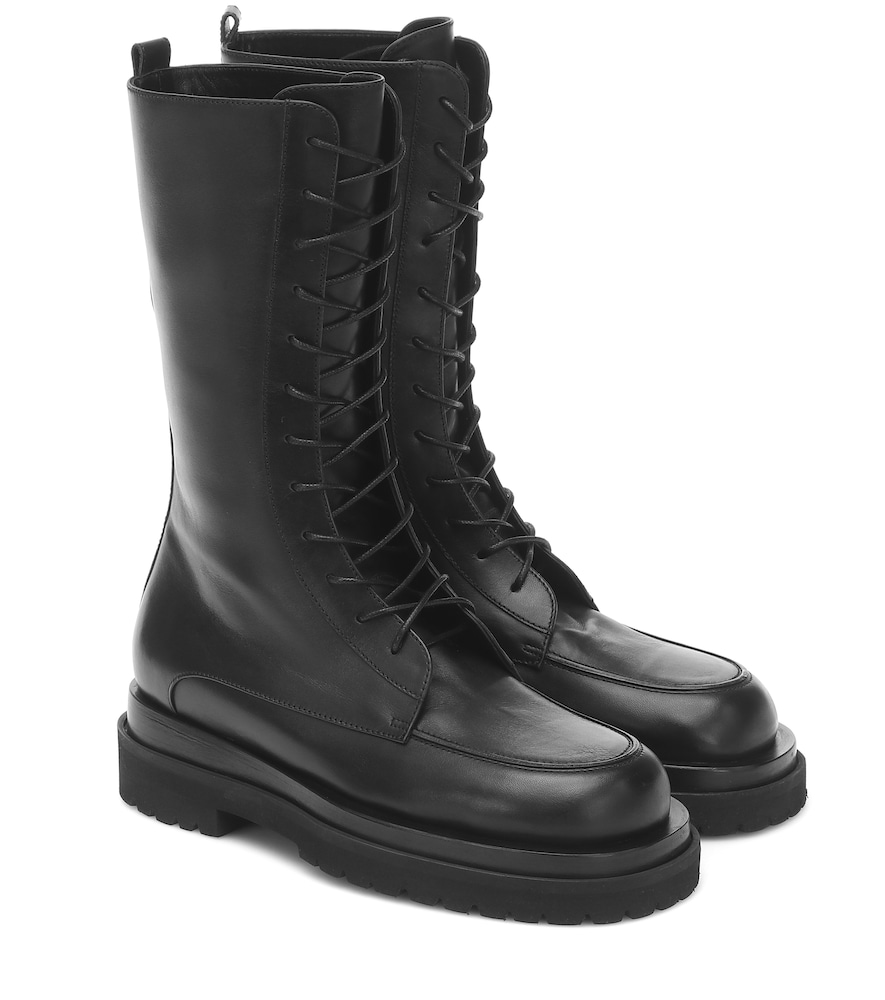 Magda Butrym LEATHER COMBAT ANKLE BOOTS