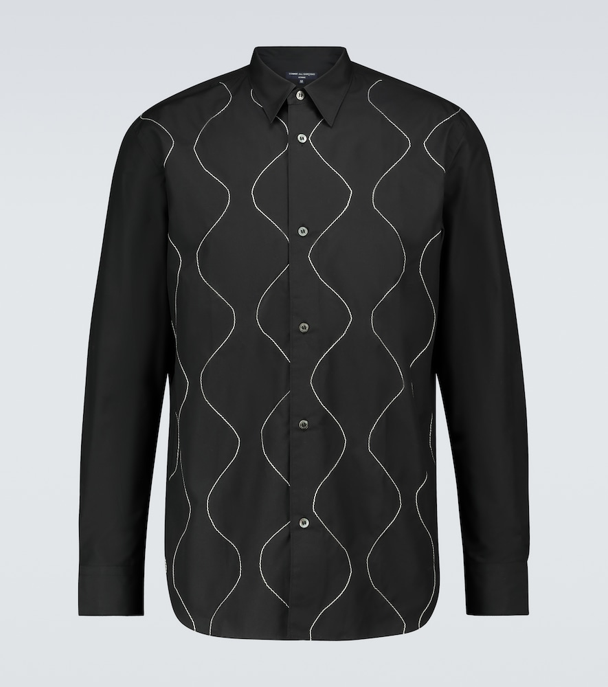 Long-sleeved embroidered shirt