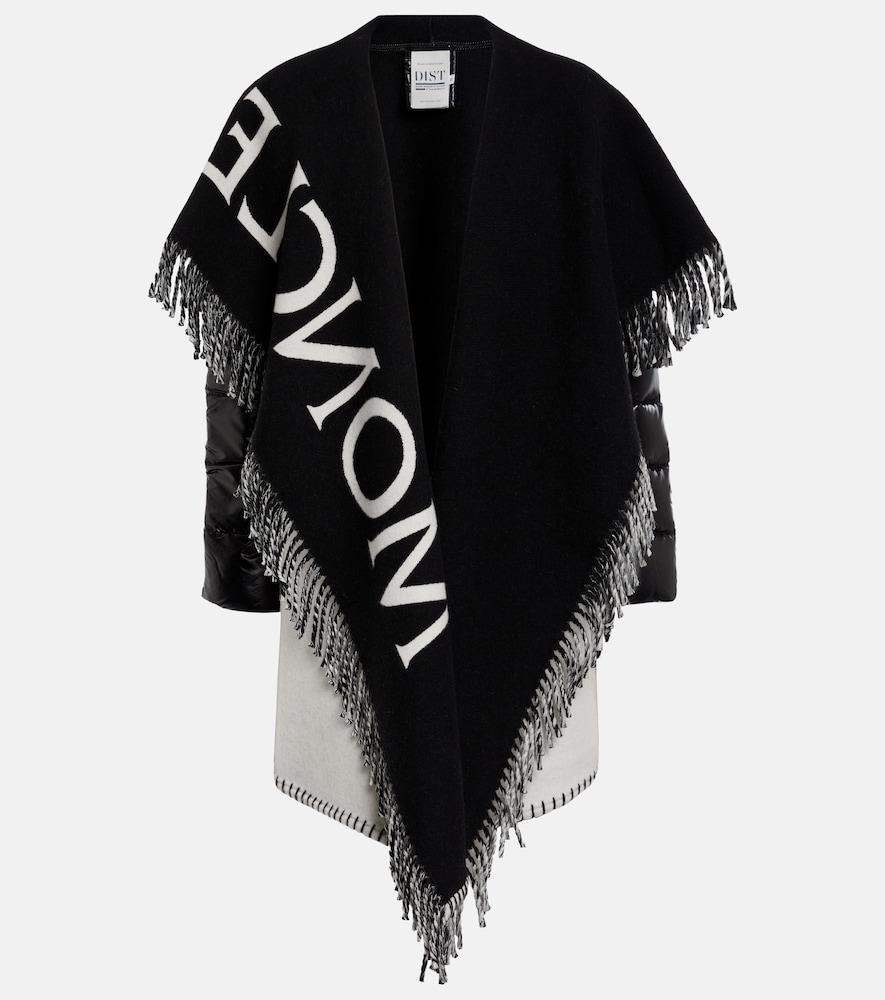 Wool-blend cape