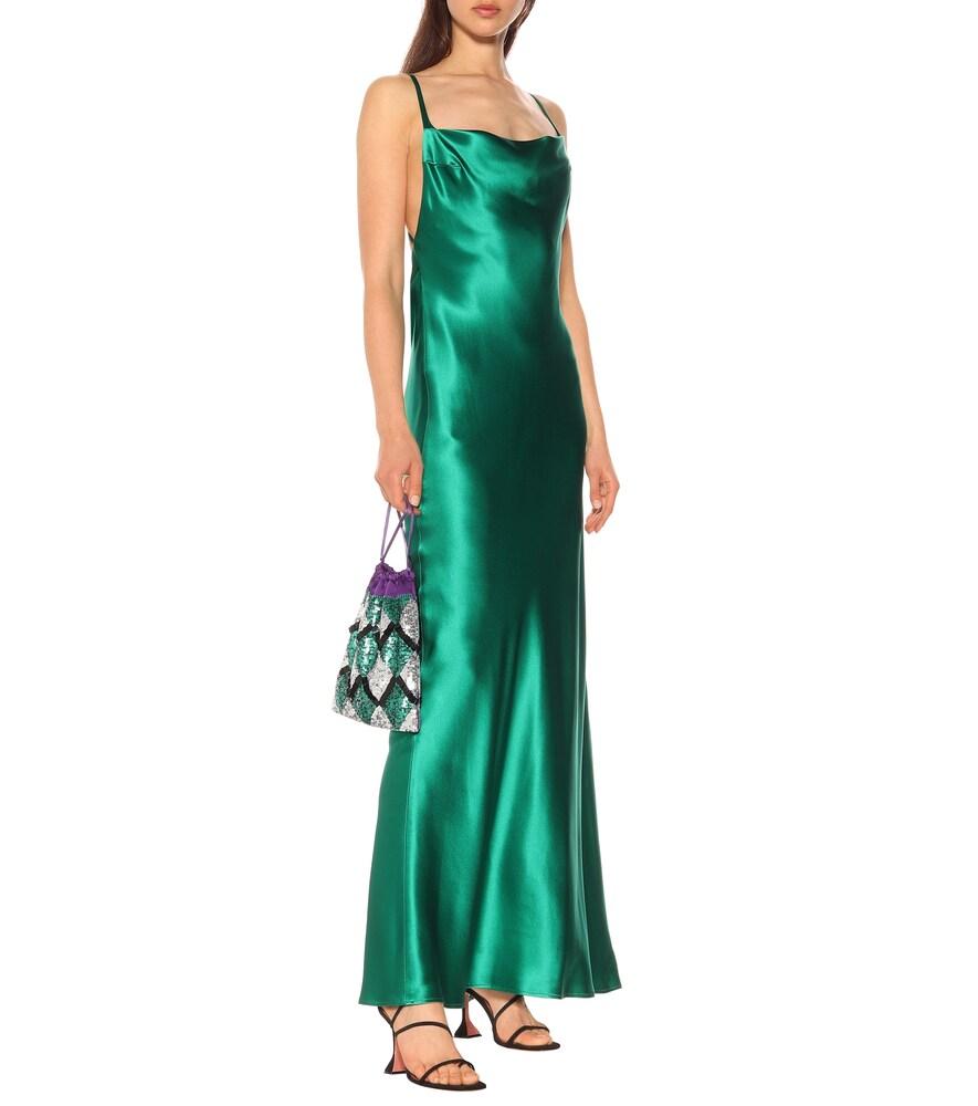 Whiteley silk-satin gown by Galvan